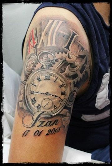 tatuajes de relojes con nombres ideas