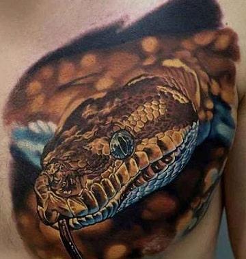 tatuajes de serpientes en 3d para hombre