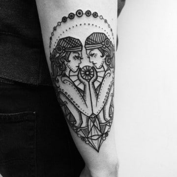 tatuajes del signo geminis diseños