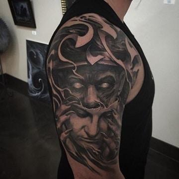 tatuajes diabolicos en el brazo famosos