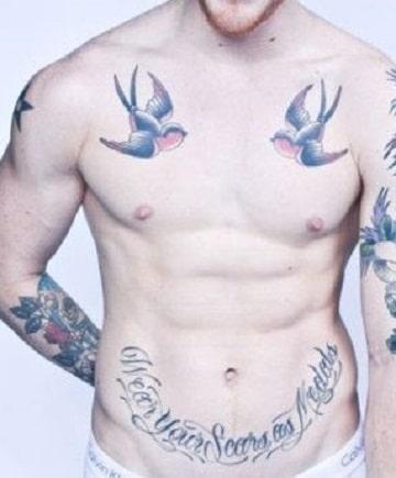 tatuajes en la ingle para hombres letras