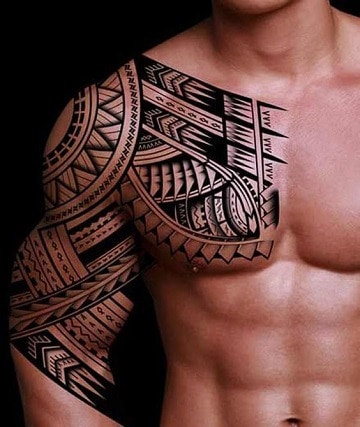 tatuajes samoanos en el brazo hombres
