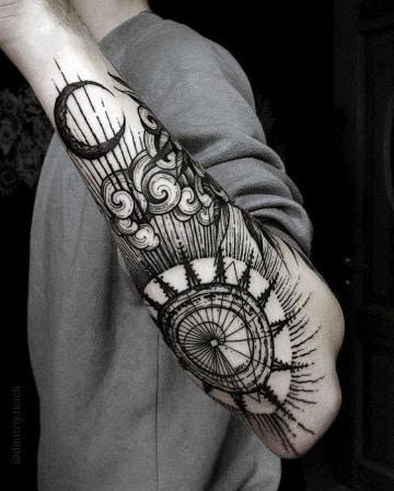 Tatuajes Brazo Entero Diseos Composicin Mstica Para Brazo Entero