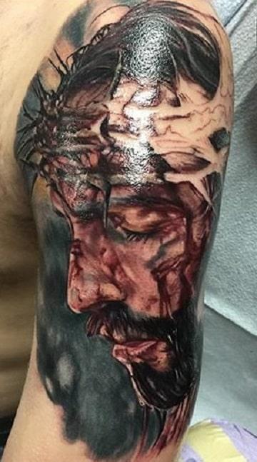 imagenes de cristo para tatuar 3D
