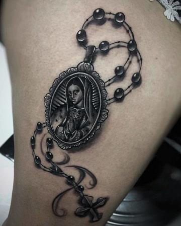 imagenes de tatuajes de rosarios de la virgen
