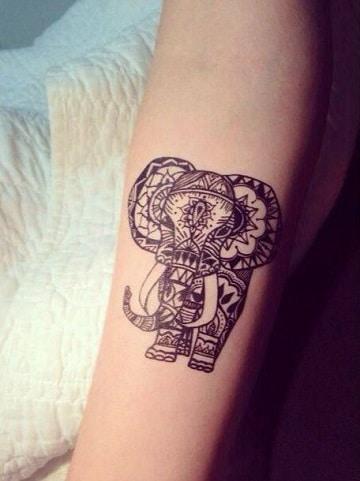 significado del elefante en tatuajes indu