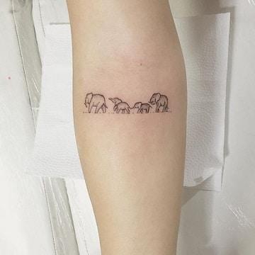 significado del elefante en tatuajes manada