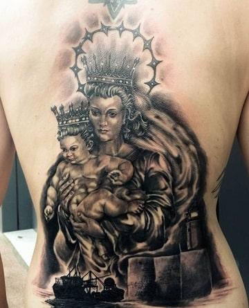 tatuajes de la virgen del carmen ideas