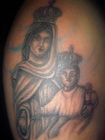 tatuajes de la virgen del carmen para hombre