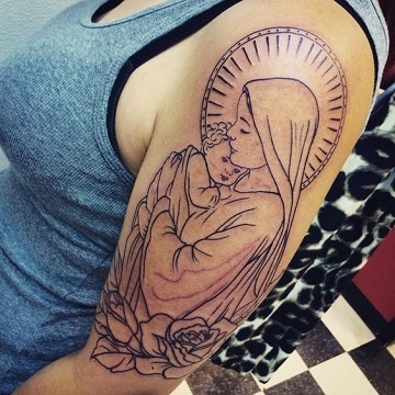 tatuajes de la virgen del carmen para mujer