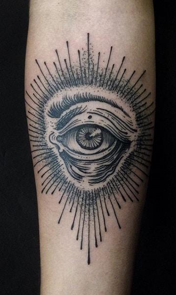 tatuajes de ojos en el brazo realista