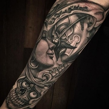 tatuajes de payasos cholos parejas