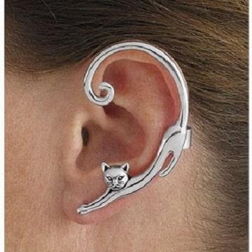 fotos de piercing en la oreja para amantes de los gatos