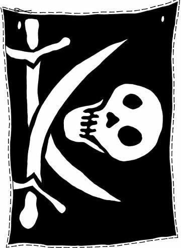 imagenes de calaveras de piratas clasicas