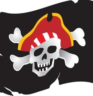 imagenes de calaveras de piratas de colores