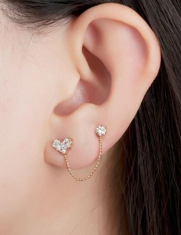 piercing en las orejas para mujeres dobles