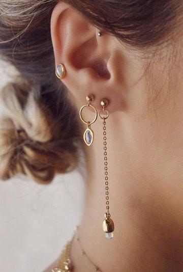 piercing en las orejas para mujeres largos