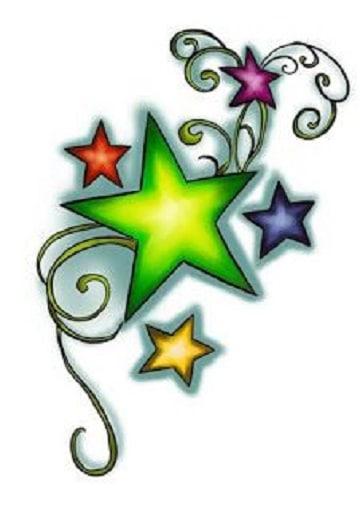 plantillas de tatuajes de estrellas de colores