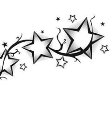 plantillas de tatuajes de estrellas para chicas