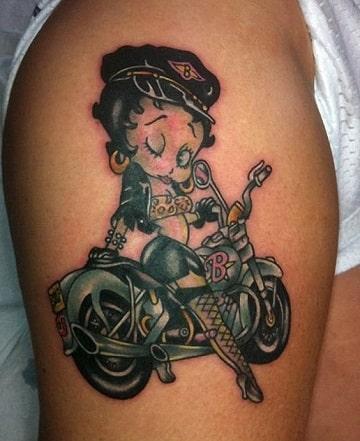 tatuajes de motos para mujer betty boop