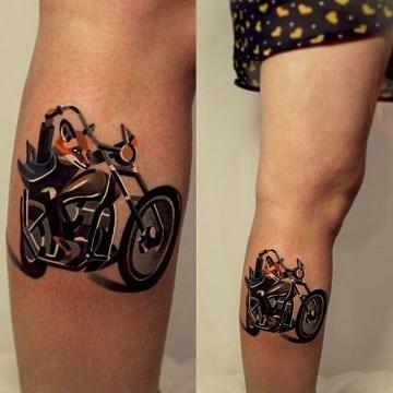 tatuajes de motos para mujer con caricaturas