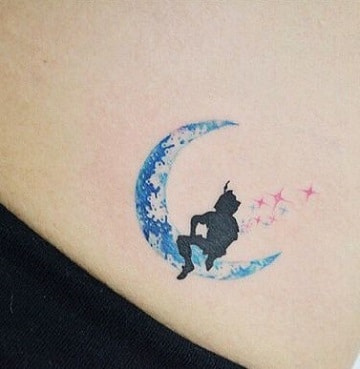 tatuajes de peter pan silueta