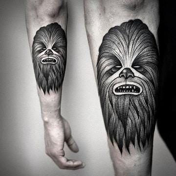 tatuajes de star wars chewbaca