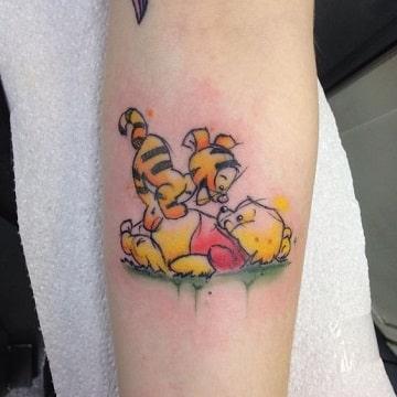 tatuajes de winnie pooh bebes