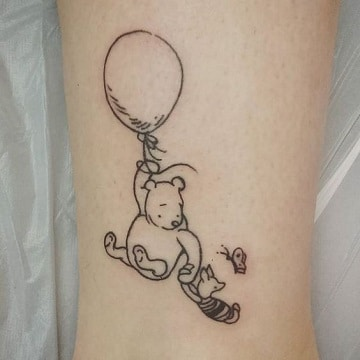 tatuajes de winnie pooh contornos