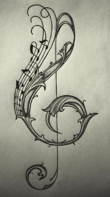 dibujos de tatuajes de signos musicales