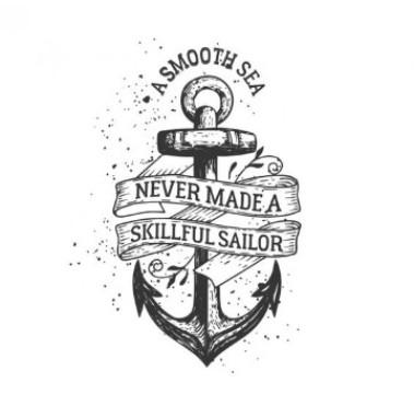 diseños de anclas para tatuar con letras
