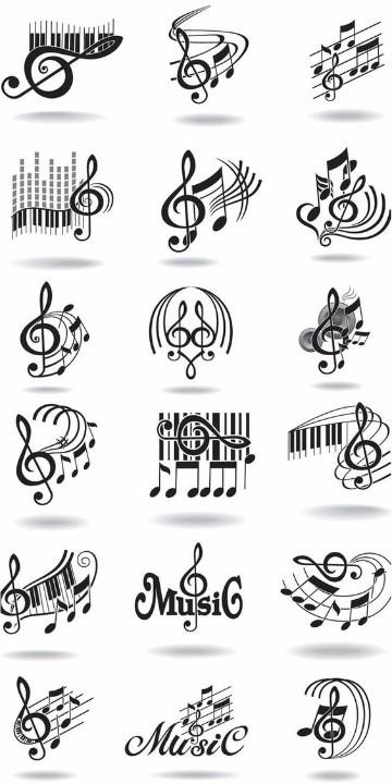 imagenes de notas musicales para tatuajes para dibujar