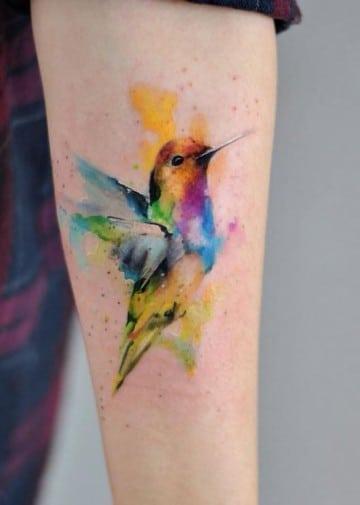 imagenes de tatuajes de pajaros en acuarela