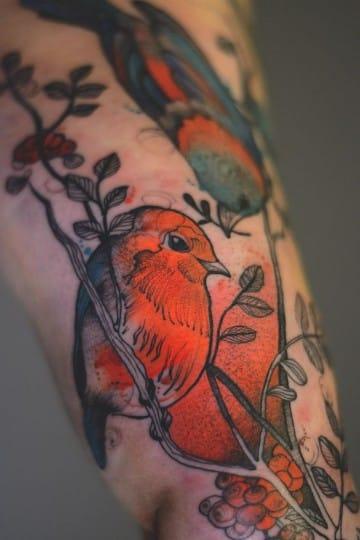 imagenes de tatuajes de pajaros realista