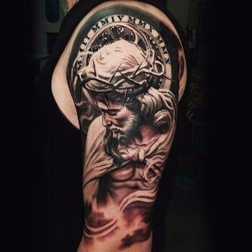 tatuajes de jesus de nazaret con detalles