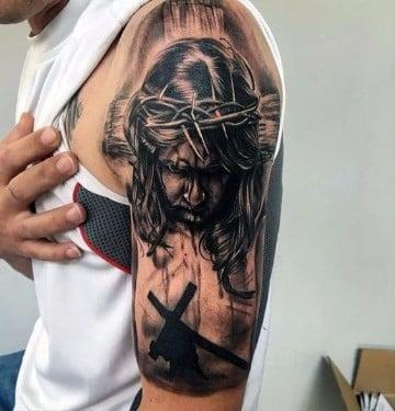 tatuajes de jesus de nazaret increibles