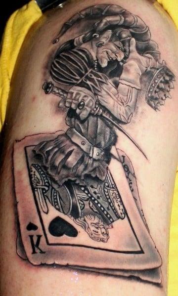 tatuajes de payasos joker en blacno y negro