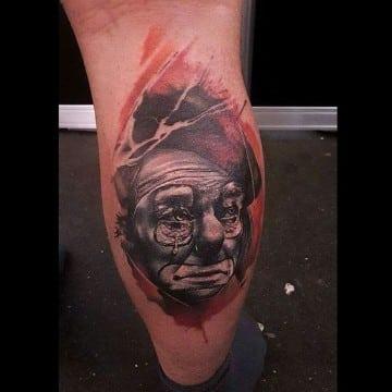 tatuajes de payasos tristes y alegres realista