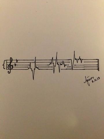 tatuajes de signos de musica para hombres