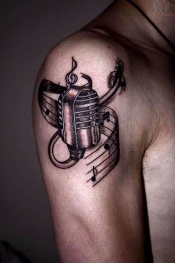tatuajes de signos musicales para hombres
