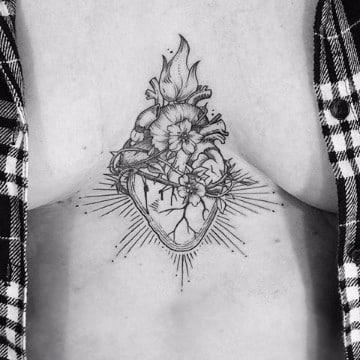 tatuajes del sagrado corazon de jesus anatomico