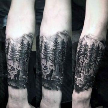 tatuajes media manga sombreados en blanco y negro