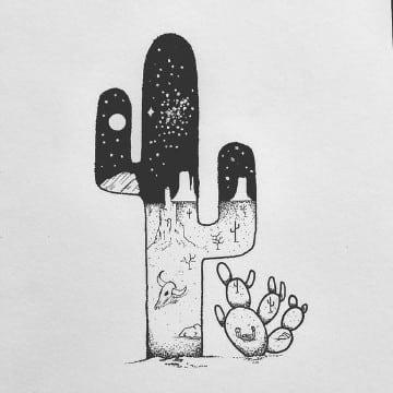 diseños de dibujos para tatuajes cactus