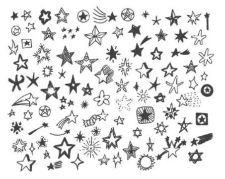 plantillas de tatuajes pequeños estrellas