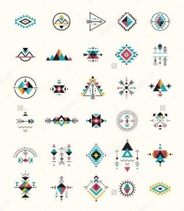 plantillas de tatuajes pequeños geometricos
