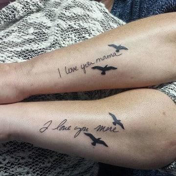 tatuajes con frases para madres e hijas