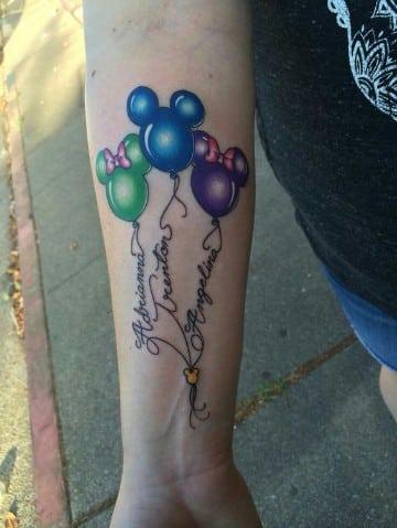 tatuajes con nombres y dibujos en el antebrazos
