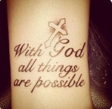 tatuajes cristianos para mujeres frases de Dios