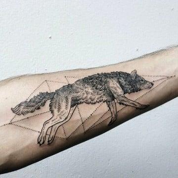 tatuajes de animales en el brazo con diseño