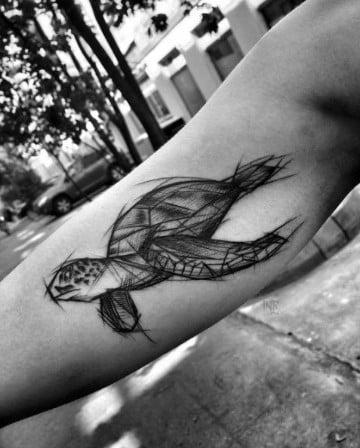 tatuajes de animales en el brazo en sketch